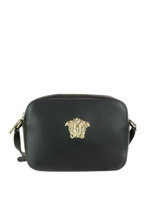 Versace: cross body bags - Palazzo leather crossbody