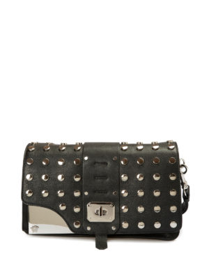 Versace: cross body bags - Stardvust studded leather bag