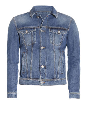 Versace: denim jacket - Back Medusa print denim jacket