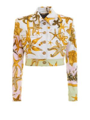 VERSACE: giacche denim - Giacca in denim Trésor de la Mer