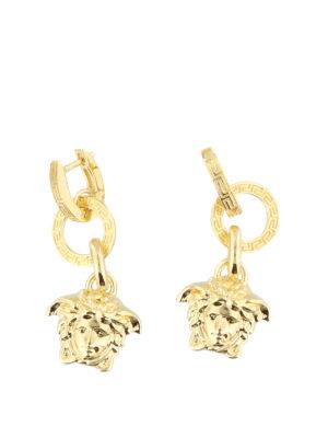 Versace: Earrings - Medusa Head charm drop earrings