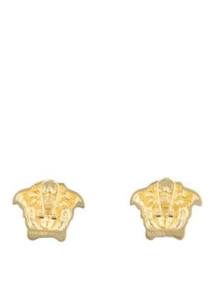 VERSACE: Orecchini - Orecchini a clip dorati Testa di Medusa