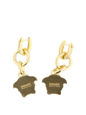 Versace: Earrings online - Medusa Head charm drop earrings