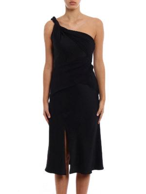Versace: evening dresses online - One shoulder sensual crepe dress