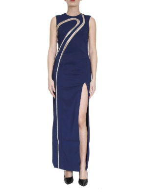 Versace: evening dresses online - Rhinestone-embellished waves dress