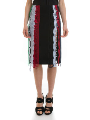 Versace: Knee length skirts & Midi online - Embroidered lace bands skirt