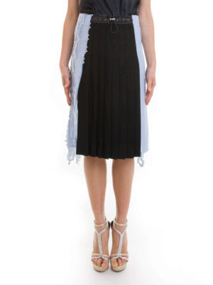 Versace: Knee length skirts & Midi online - Lace detailed pleated skirt
