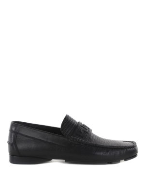 Versace: Loafers & Slippers - Greek fret detail loafers