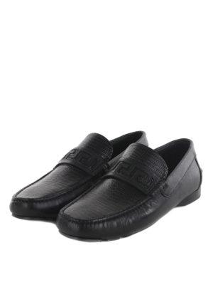 Versace: Loafers & Slippers online - Greek fret detail loafers
