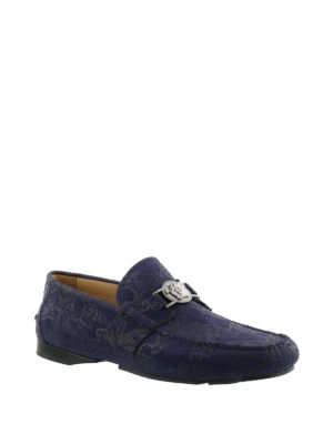 Versace: Loafers & Slippers online - Printed leather loafers