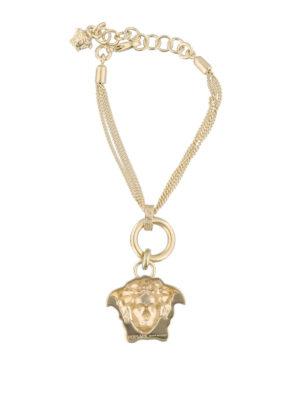 VERSACE: Bracciali e Braccialetti online - Bracciale dorato con pendente Testa di Medusa