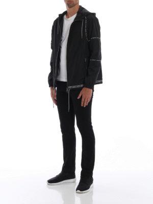 VERSACE: giacche casual online - Giacca in tessuto tecnico con bande logo