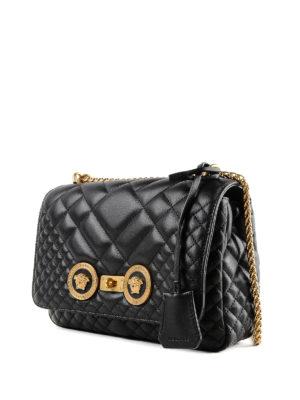 VERSACE: borse a spalla online - Borsa Icon in nappa trapuntata con Medusa