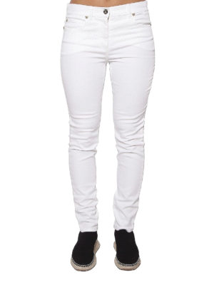VERSACE: jeans skinny online - Jeans con logo medusa