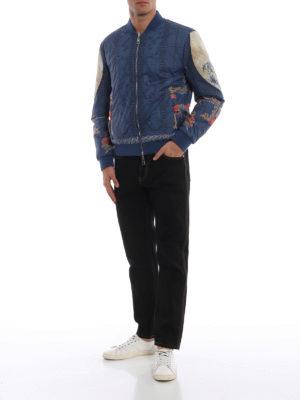 a sigaretta - Jeans in denim nero con logo Medusa Head