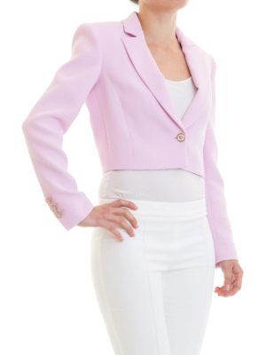 VERSACE: giacche sartoriali online - Elegante blazer crop strutturato