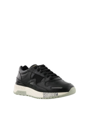 VERSACE: sneakers online - Sneaker in pelle con inserti catarifrangenti
