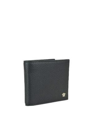 VERSACE: portafogli online - Portafoglio in pelle con mini Testa di Medusa