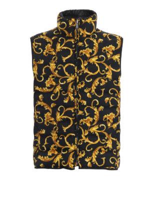 VERSACE: giacche imbottite - Gilet imbottito reversibile Acid Baroque