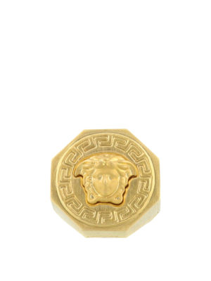 Versace: Rings - Greca and Medusa Head ring