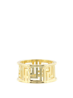 Versace: Rings - Greca Key cut out ring