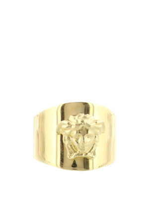 Versace: Rings - Medusa Head gold-tone ring