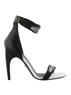 Versace: sandals - Logo strap open toe sandals
