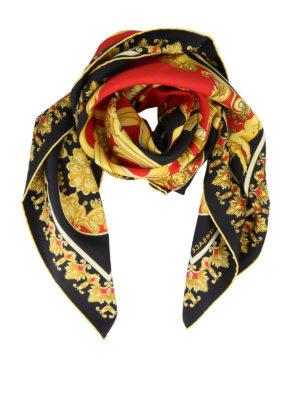 VERSACE: scarves - Baroque printed scarf