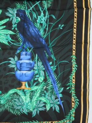 Versace: scarves online - Bird print silk foulard