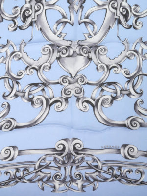 Versace: scarves online - Heritage Barocco print silk scarf