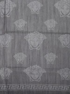 Versace: scarves online - Wool and silk blend Medusa pashmina