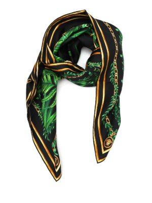 Versace: scarves - Pantera print silk foulard