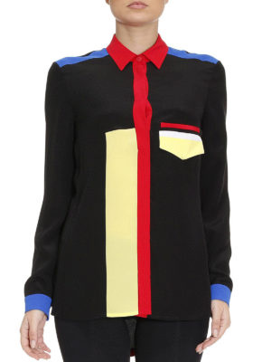 Versace: shirts online - Coloured details silk shirt