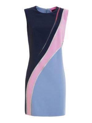 Versace: short dresses - Embellished colour block dress