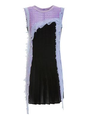 Versace: short dresses - Lace detailed silk dress
