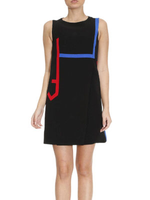 Versace: short dresses online - Coloured stripes silk dress