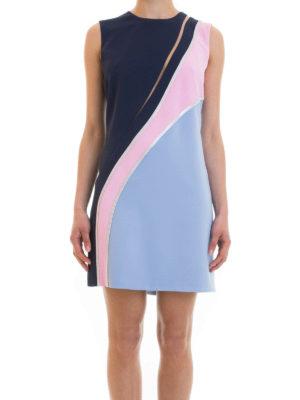 Versace: short dresses online - Embellished colour block dress