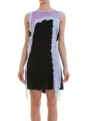 Versace: short dresses online - Lace detailed silk dress