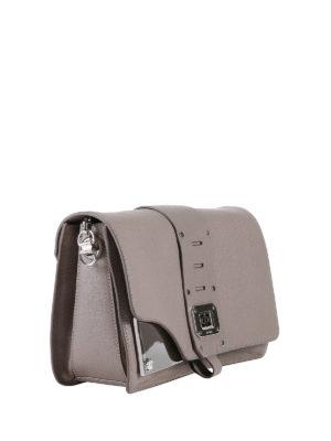 Versace: shoulder bags online - Metallic inserts shoulder bag