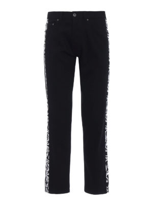 Versace: straight leg jeans - Optillusion five pocket jeans