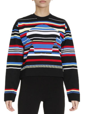 Versace: Sweatshirts & Sweaters online - Multicolour striped sweatshirt