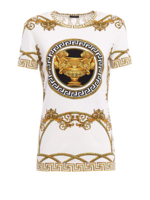 Versace: t-shirts - Baroque printed jersey T-shirt