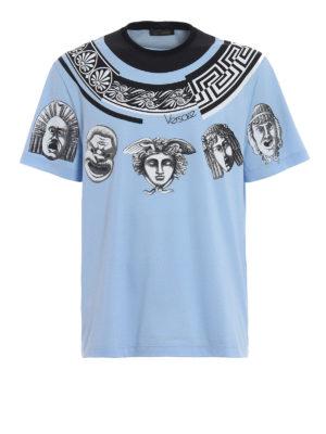 Versace: t-shirts - Greek Balletto sky blue T-shirt