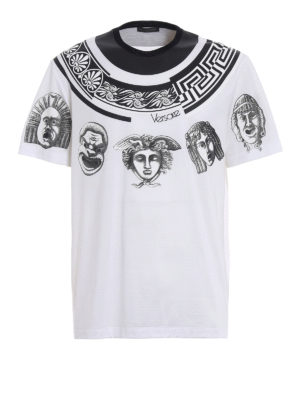 Versace: t-shirts - Greek Balletto white T-shirt