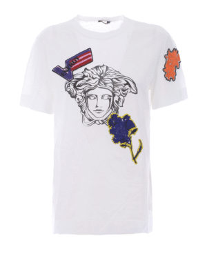 Versace: t-shirts - Medusa head cotton T-shirt