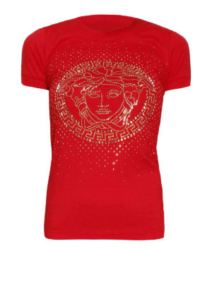 Versace: t-shirts - Medusa logo T-shirt