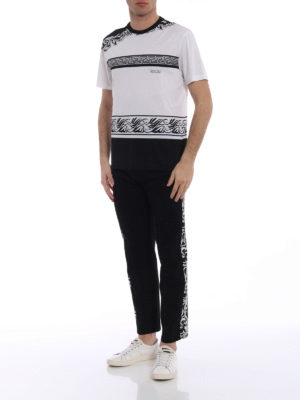 Versace: t-shirts online - Barocco white and black T-shirt
