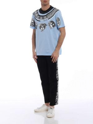 Versace: t-shirts online - Greek Balletto sky blue T-shirt