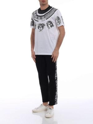 Versace: t-shirts online - Greek Balletto white T-shirt