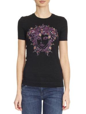 Versace: t-shirts online - Medusa embroidery T-shirt